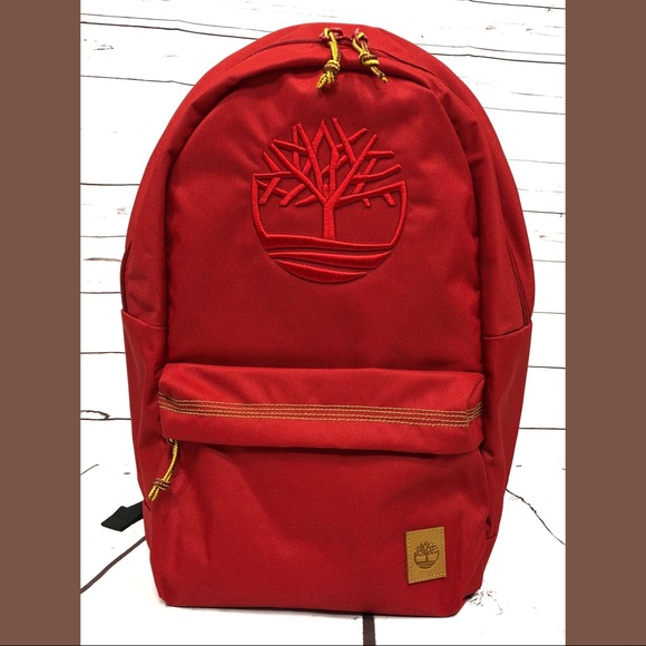 0e9df695f1 Timberland Bags | Red Embroidered Backpack Bag | Poshmark
